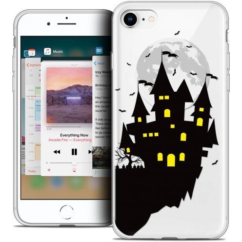 "Coque Crystal Gel Apple iPhone 8 (4.7"") Extra Fine Halloween - Castle Dream"