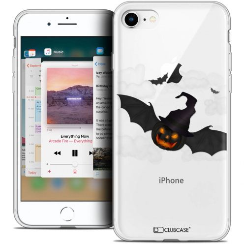 "Extra Slim Crystal Gel Apple iPhone 8 (4.7"") Case Halloween Chauve Citrouille"