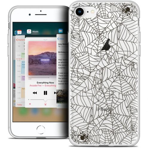 "Coque Crystal Gel Apple iPhone 8 (4.7"") Extra Fine Halloween - Spooky Spider"