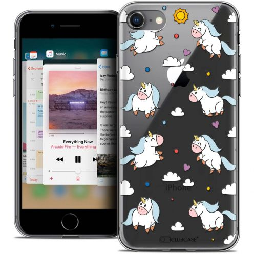 "Coque Crystal Gel Apple iPhone 8 (4.7"") Extra Fine Fantasia - Licorne In the Sky"