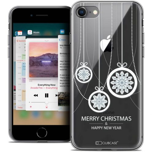 "Coque Crystal Gel Apple iPhone 8 (4.7"") Extra Fine Noël 2017 - Christmas Balls"