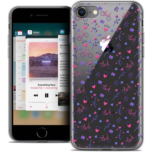 "Coque Crystal Gel Apple iPhone 8 (4.7"") Extra Fine Love - Bicycle"