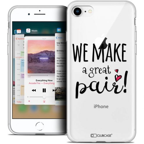 "Coque Crystal Gel Apple iPhone 8 (4.7"") Extra Fine Love - We Make Great Pair"