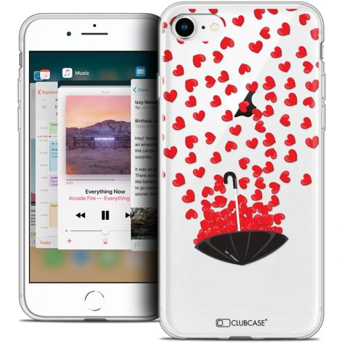 "Coque Crystal Gel Apple iPhone 8 (4.7"") Extra Fine Love - Parapluie d'Amour"