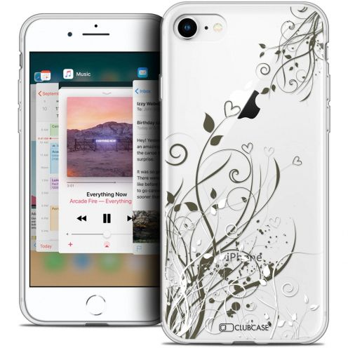 "Coque Crystal Gel Apple iPhone 8 (4.7"") Extra Fine Love - Hearts Flowers"