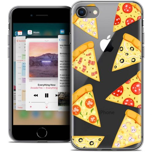 "Extra Slim Crystal Gel Apple iPhone 8 (4.7"") Case Foodie Pizza"