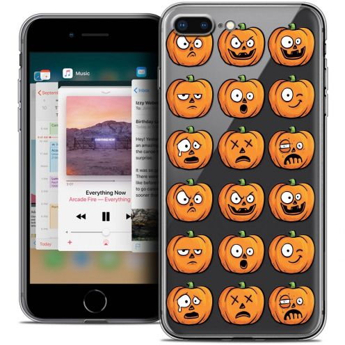 "Coque Crystal Gel Apple iPhone 8 Plus (5.5"") Extra Fine Halloween - Cartoon Citrouille"