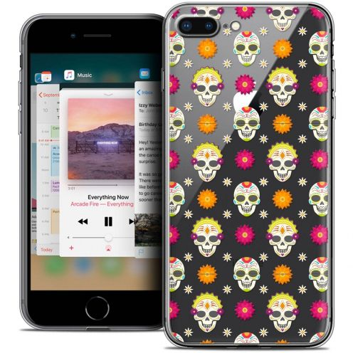 "Coque Crystal Gel Apple iPhone 8 Plus (5.5"") Extra Fine Halloween - Skull Halloween"
