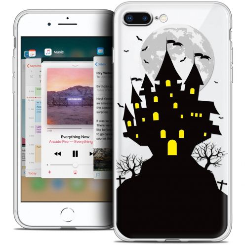 "Coque Crystal Gel Apple iPhone 8 Plus (5.5"") Extra Fine Halloween - Castle Scream"