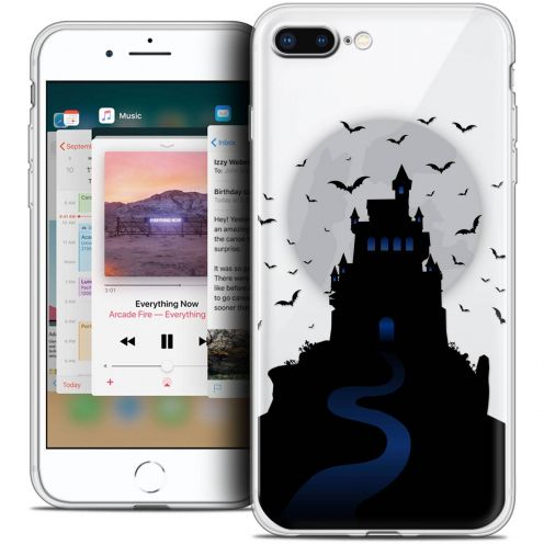 "Extra Slim Crystal Gel Apple iPhone 8 Plus (5.5"") Case Halloween Castle Nightmare"