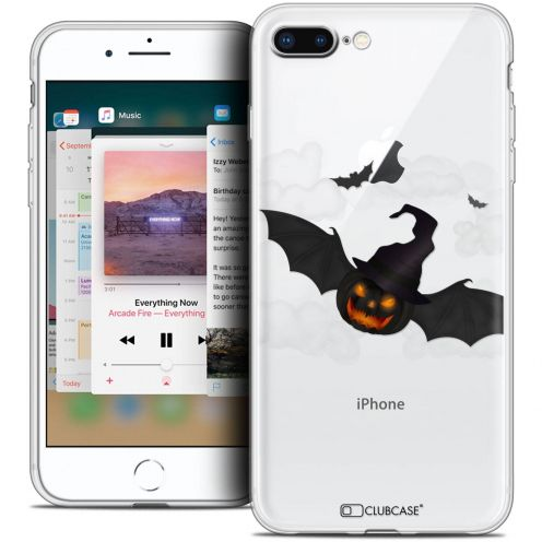 "Coque Crystal Gel Apple iPhone 8 Plus (5.5"") Extra Fine Halloween - Chauve Citrouille"