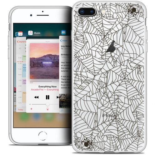 "Extra Slim Crystal Gel Apple iPhone 8 Plus (5.5"") Case Halloween Spooky Spider"