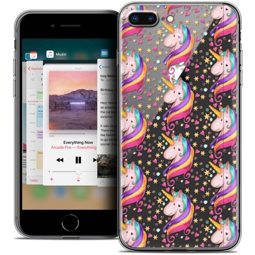 "Coque Crystal Gel Apple iPhone 8 Plus (5.5"") Extra Fine Fantasia - Licorne Etoilée"