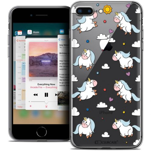"Coque Crystal Gel Apple iPhone 8 Plus (5.5"") Extra Fine Fantasia - Licorne In the Sky"