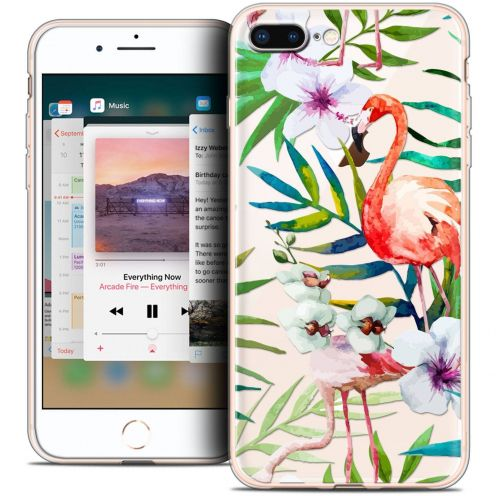 "Coque Crystal Gel Apple iPhone 8 Plus (5.5"") Extra Fine Watercolor - Tropical Flamingo"