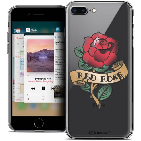 "Coque Crystal Gel Apple iPhone 8 Plus (5.5"") Extra Fine Tatoo Lover - Red Rose"