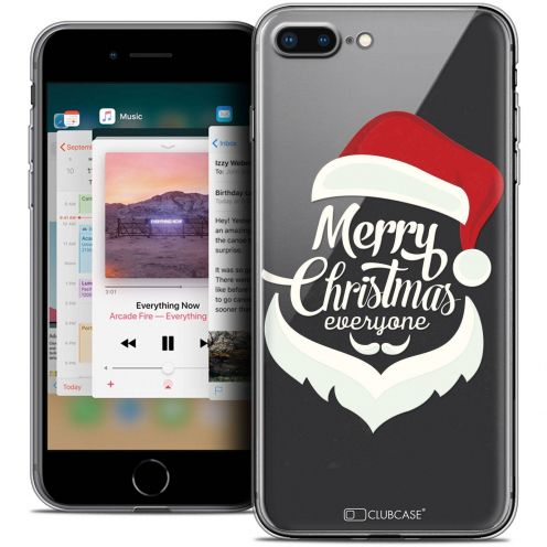 "Coque Crystal Gel Apple iPhone 8 Plus (5.5"") Extra Fine Noël 2017 - Merry Everyone"