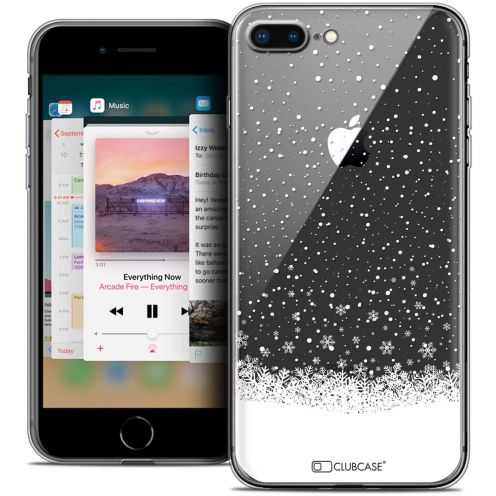 "Coque Crystal Gel Apple iPhone 8 Plus (5.5"") Extra Fine Noël 2017 - Flocons de Neige"