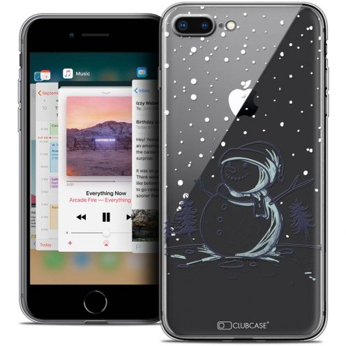 "Extra Slim Crystal Gel Apple iPhone 8 Plus (5.5"") Case Noël 2017 Bonhomme de Neige"