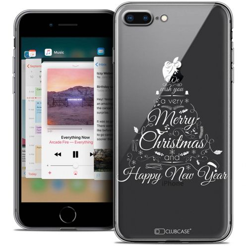 "Coque Crystal Gel Apple iPhone 8 Plus (5.5"") Extra Fine Noël 2017 - Calligraphie"