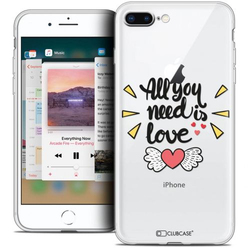 "Coque Crystal Gel Apple iPhone 8 Plus (5.5"") Extra Fine Love - All U Need Is"