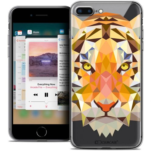 "Coque Crystal Gel Apple iPhone 8 Plus (5.5"") Extra Fine Polygon Animals - Tigre"
