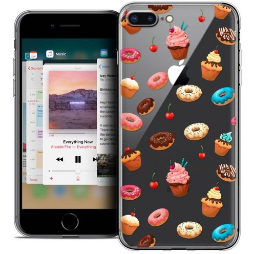"Extra Slim Crystal Gel Apple iPhone 8 Plus (5.5"") Case Foodie Donuts"