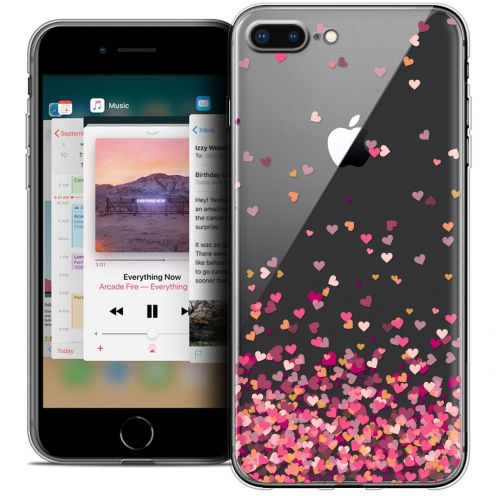 "Coque Crystal Gel Apple iPhone 8 Plus (5.5"") Extra Fine Sweetie - Heart Flakes"