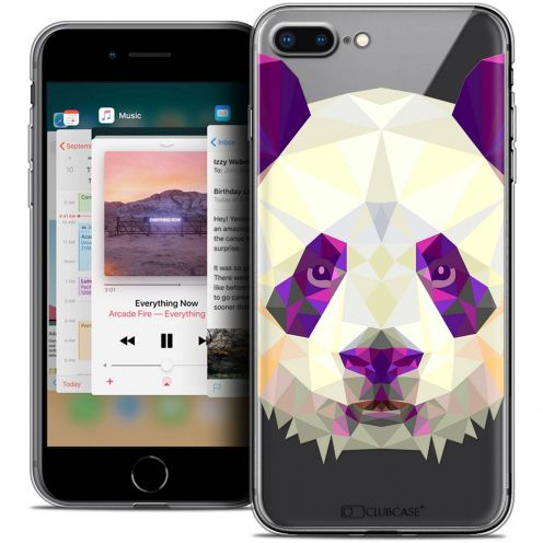 "Coque Crystal Gel Apple iPhone 8 Plus (5.5"") Extra Fine Polygon Animals - Panda"