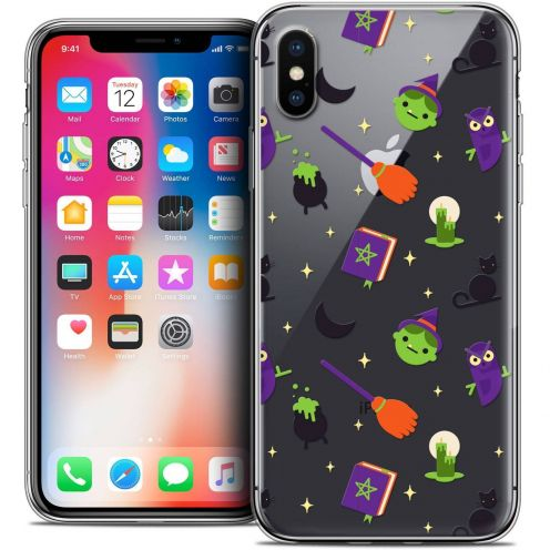 "Coque Crystal Gel Apple iPhone Xs / X (5.8"") Extra Fine Halloween - Witch Potter"