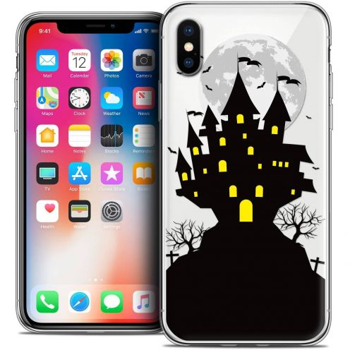 "Coque Crystal Gel Apple iPhone Xs / X (5.8"") Extra Fine Halloween - Castle Scream"