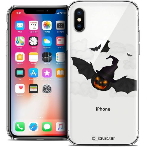 "Coque Crystal Gel Apple iPhone Xs / X (5.8"") Extra Fine Halloween - Chauve Citrouille"