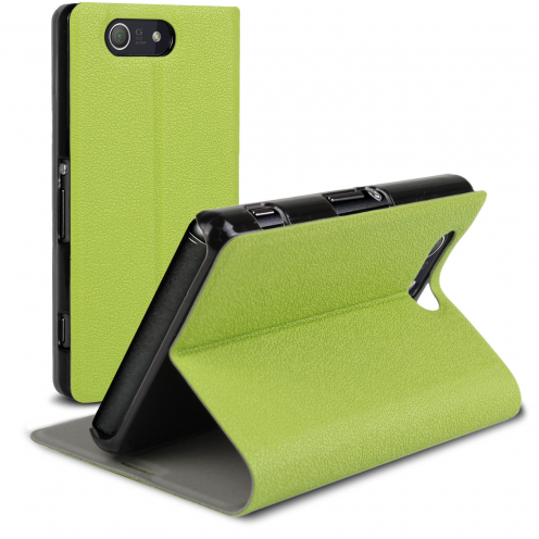 Slim Folio Smart Magnet Case for Sony Xperia Z3 Compact Green