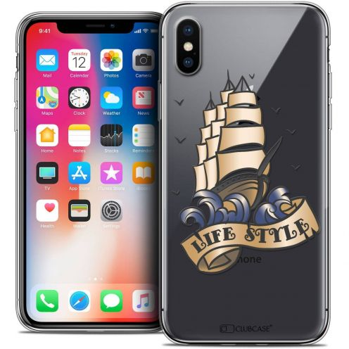 "Coque Crystal Gel Apple iPhone Xs / X (5.8"") Extra Fine Tatoo Lover - Life Style"