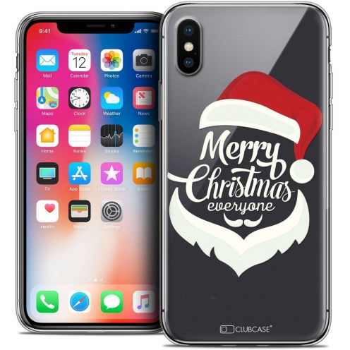 "Coque Crystal Gel Apple iPhone Xs / X (5.8"") Extra Fine Noël 2017 - Merry Everyone"