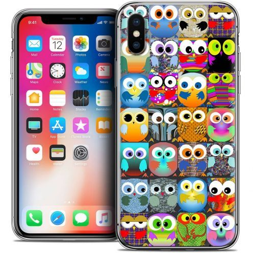 "Coque Crystal Gel Apple iPhone Xs / X (5.8"") Extra Fine Claude - Hibous"