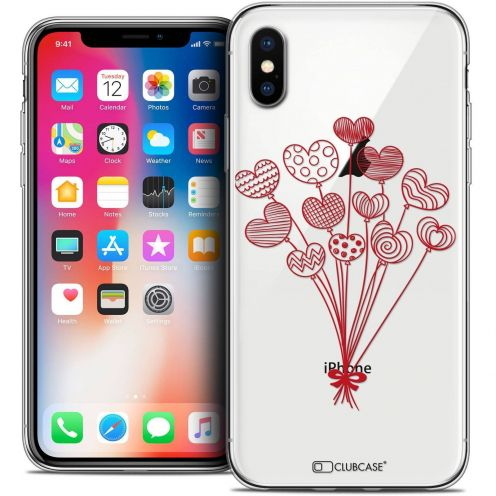 "Coque Crystal Gel Apple iPhone Xs / X (5.8"") Extra Fine Love - Ballons d'amour"
