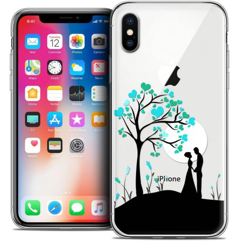 Extra Slim Crystal Gel Apple iPhone X (10) Case Love Sous l'arbre