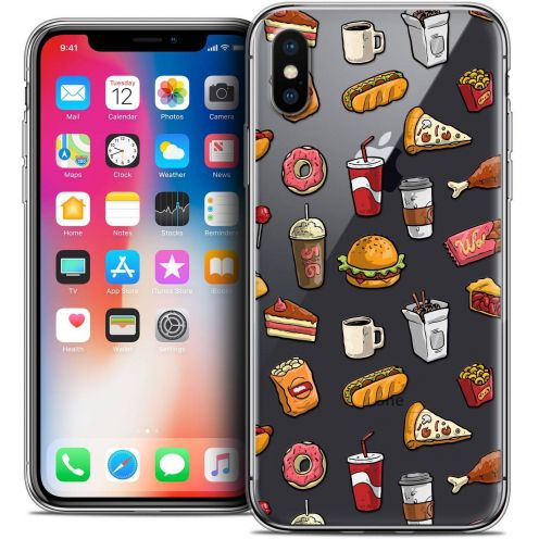 "Coque Crystal Gel Apple iPhone Xs / X (5.8"") Extra Fine Foodie - Fast Food"