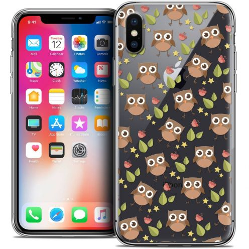 Extra Slim Crystal Gel Apple iPhone X (10) Case Summer Hibou