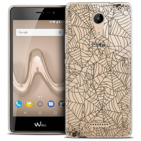 """Coque Crystal Gel Wiko Tommy 2 (5"""") Extra Fine Halloween - Spooky Spider"""