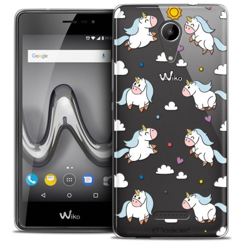 "Coque Crystal Gel Wiko Tommy 2 (5"") Extra Fine Fantasia - Licorne In the Sky"