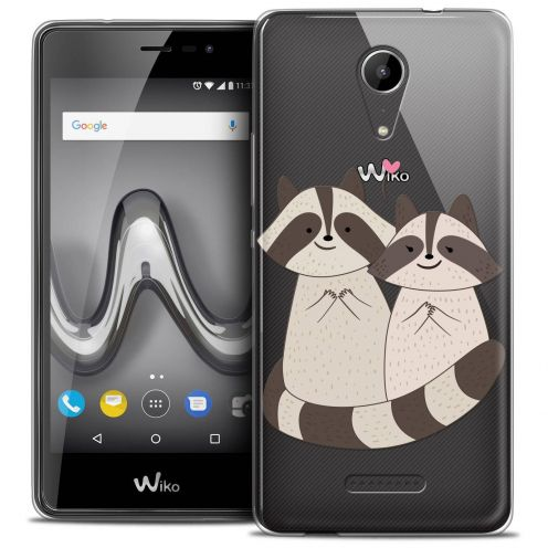 """Coque Crystal Gel Wiko Tommy 2 (5"""") Extra Fine Sweetie - Racoon Love"""