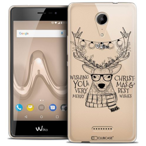 """Coque Crystal Gel Wiko Tommy 2 (5"""") Extra Fine Noël 2017 - Cerf Hipster"""