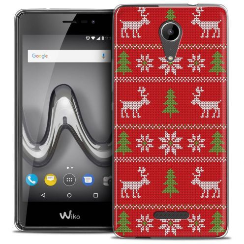 """Coque Crystal Gel Wiko Tommy 2 (5"""") Extra Fine Noël 2017 - Couture Rouge"""