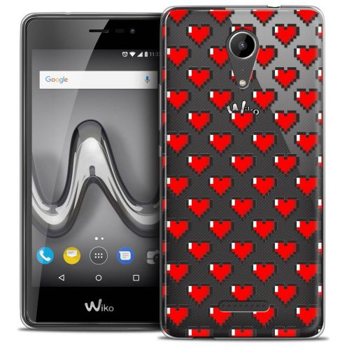 "Coque Crystal Gel Wiko Tommy 2 (5"") Extra Fine Love - Pixel Art"