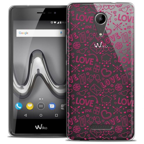 """Coque Crystal Gel Wiko Tommy 2 (5"""") Extra Fine Love - Doodle"""