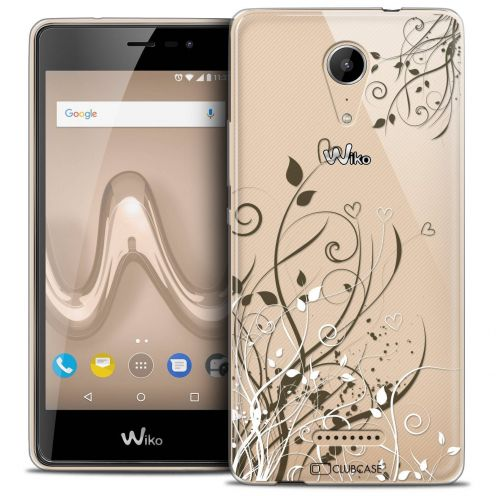 "Coque Crystal Gel Wiko Tommy 2 (5"") Extra Fine Love - Hearts Flowers"