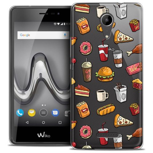 "Coque Crystal Gel Wiko Tommy 2 (5"") Extra Fine Foodie - Fast Food"