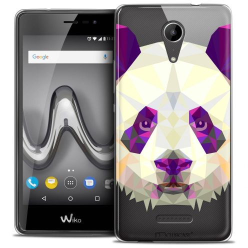 "Extra Slim Crystal Gel Wiko Tommy 2 (5"") Case Polygon Animals Panda"